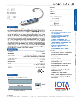 IOTA ISD-420-EM-A Product Specification Sheet