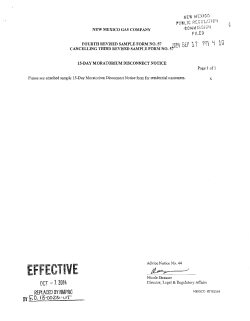 Form 57 - New Mexico Public Regulation Commission