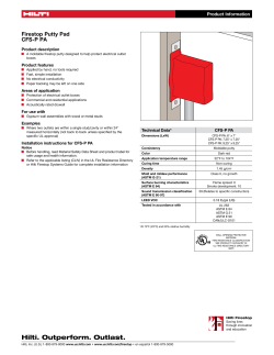 PDFProduct Data Sheet for CFS-P PA Firestop Putty Pad, English