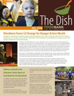 Woodmen Tower Lit Orange for Hunger Action Month