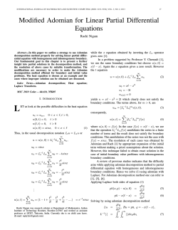 6. Modified Adomian for linear partial differential equations