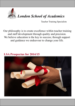 Prospectus - London School of Academics