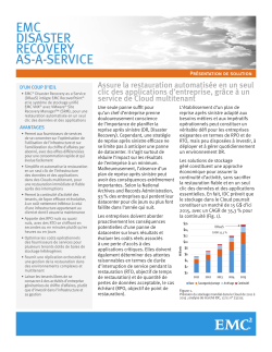 EMC DISASTER RECOVERY AS-A-SERVICE