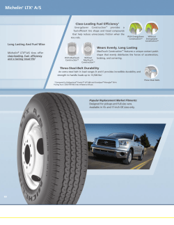 Michelin® LTX® A/S Tire Specifications