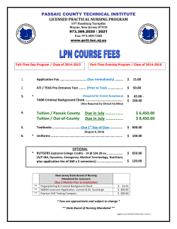 Tuition Fees - Passaic County Technical Institute
