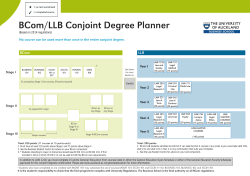 BCom/LLB Conjoint Degree Planner