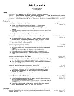 resume - Eric Evenchick