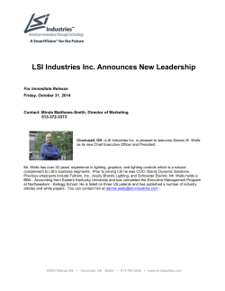 LSI Industries Inc. Announces New Leadership