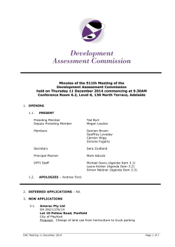 Minutes - Development Assessment Commission
