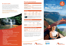 Plan your next DayScape in the Blue Mountains