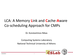 LCA: A Memory Link and Cache-Aware Co-scheduling