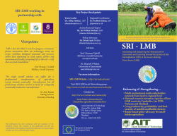 SRI-LMB Online - Asian Institute of Technology