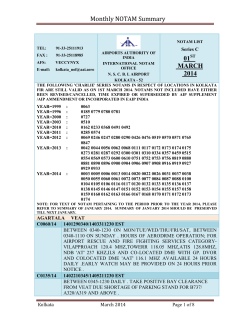 Monthly NOTAM Summary 01 MARCH 2014