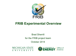 FRIB Experimental Overview