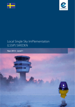 Local Single Sky ImPlementation (LSSIP) SWEDEN