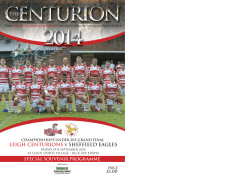 Download Now - Leigh Centurions