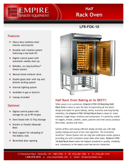 LFR-FOX-10 Compact Half Rack Oven Cutsheet Download