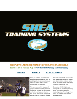 Sum14 LAX 7/8 Girls - Shea Training Systems