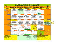 October 2014 - Haddonfield Child Care
