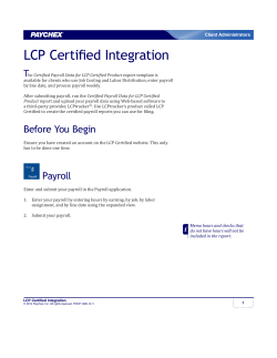 LCP Certified Integration - Paychex Time and Attendance Client
