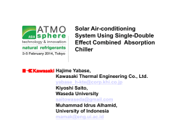 Solar Air-conditioning System Using Single-Double