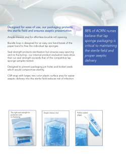 88% of AORN nurses believe that lap sponge packaging is critical to