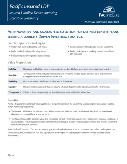 Pacific Insured LDI Executive Summary