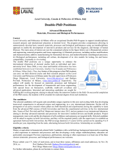Double-PhD Positions