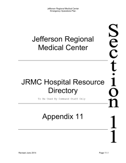 Jefferson Regional Medical Center JRMC Hospital Resource