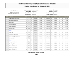 North Coast Marching Band Festival Performance