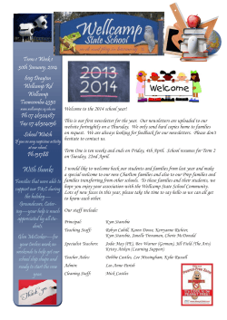 newsletter-2014-01-30 - Wellcamp State School