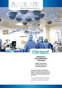 OPRAGON 8 FOR OPERATING THEATRES