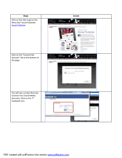 Steps. to Setup Mary Kay Social Publisher