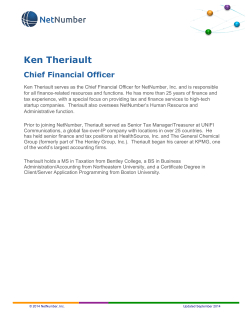 Ken Theriault Chief Financial Officer