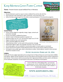 Keep Montana Green Poster Contest