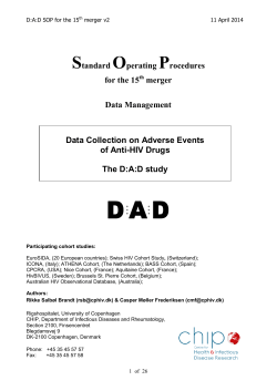 DAD DM SOP 14th merger - Copenhagen HIV Programme