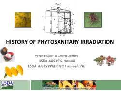 Follett, Peter (41) - History of Phytosanitary Irradiation