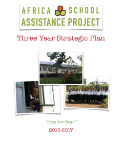 3 Year Plan - Africa School Assistance Project
