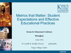 Metrics that matter - The Higher Education Academy