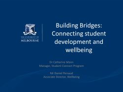 Building Bridges: Connecting student development and