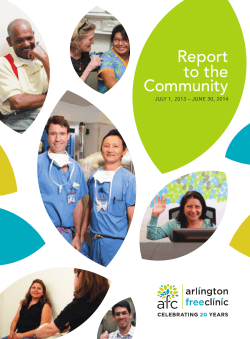 2014 Annual Report - Arlington Free Clinic