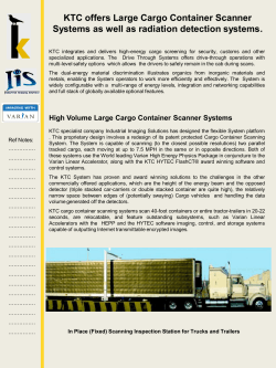 KTC offers Large Cargo Container Scanner Systems as well as