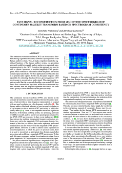 Fast Signal Reconstruction from Magnitude Spectrogram - DAFx-14