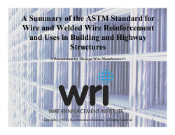 The Production/Testing - US Wire and Welded Wire: WWR