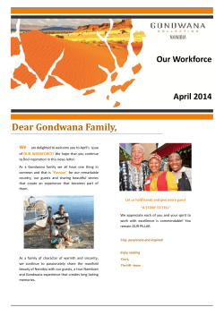 Dear Gondwana Family,