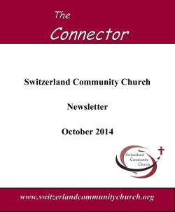 Fall Ministry Opportunities October 2014