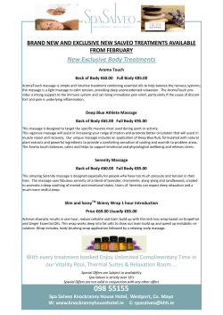 New and Exclusive Doterra Body Treatments at Spa Salveo
