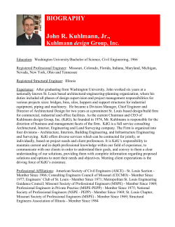 BIOGRAPHY John R. Kuhlmann, Jr.,