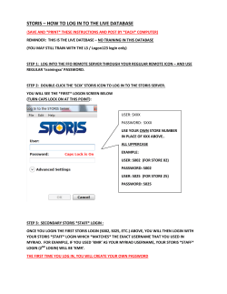 how to log into storis live-stores revised ver2 12.29.12