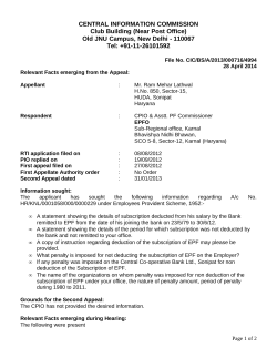 Decision No. CIC/BS/A/2013/000716/4994 dated 28-04